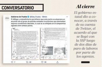 Pactan aumento de 20% a policías; Ardelio Vargas logra finalizar paro