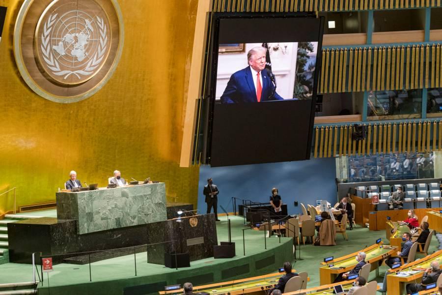 Trump presume ante ONU alianza  con México para frenar migración