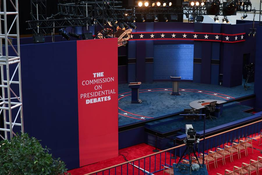 Biden llega al primer debate  con 6.8 puntos de ventaja