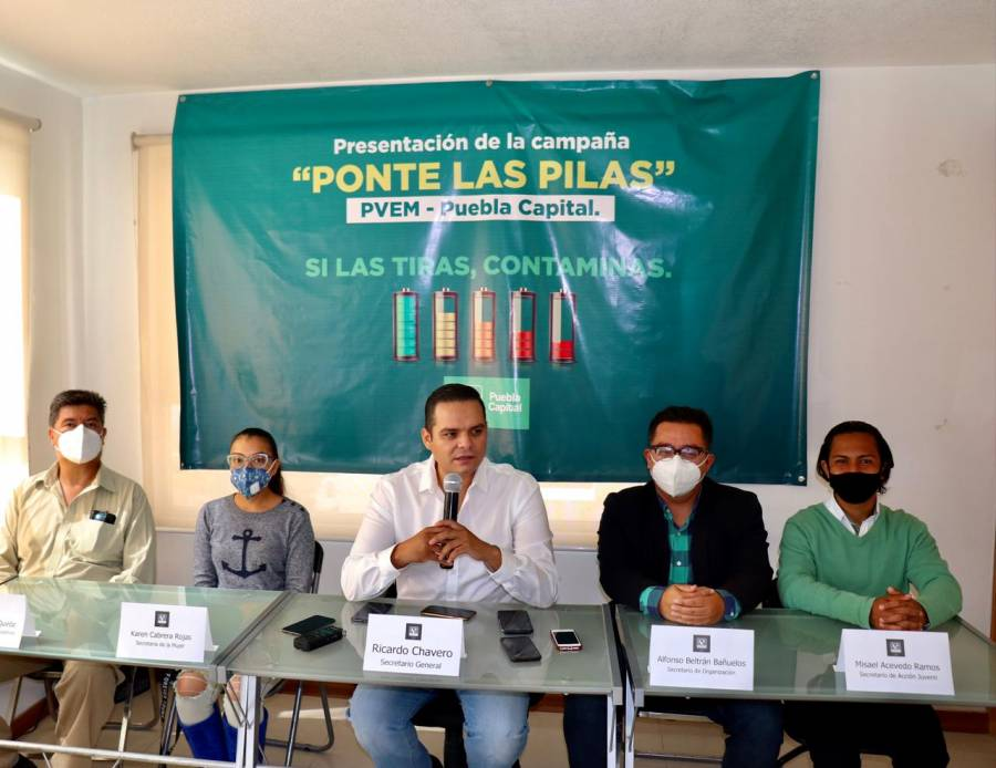 Va PVEM contra polución que dejan en Puebla 2.6 mil tons. de pilas: Chavero
