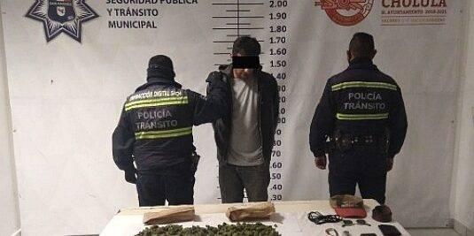 SSPTM San Andrés Cholula Detiene A Sujeto Por Posesión De Enervantes