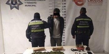 SSPTM San Andreacutes Cholula Detiene A Sujeto Por Posesioacuten De Enervantes