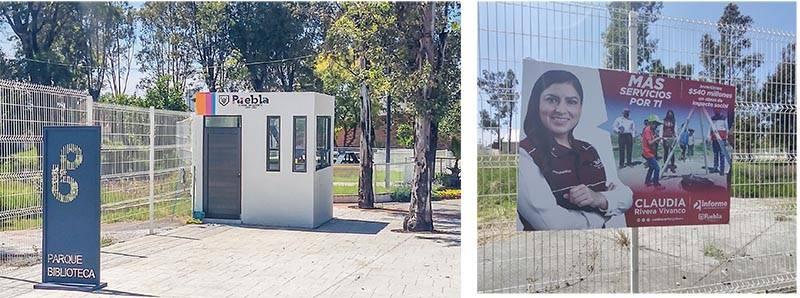 Claudia Rivera presume parque biblioteca que no ha inaugurado