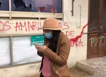 Usuarios acusan supuesta participación de secretaria de Gamboa en vandalismo