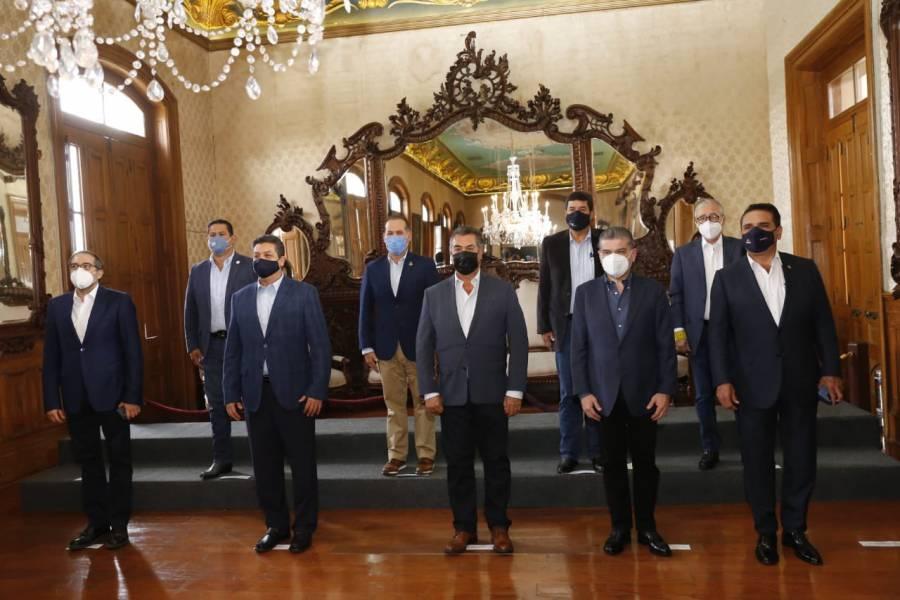 Gobernadores de Puebla y seis estados más se adhieren al Pacto Nacional por la Democracia