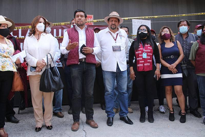 Consejeros de Morena ingresan a sede estatal; CEE denunciará penalmente