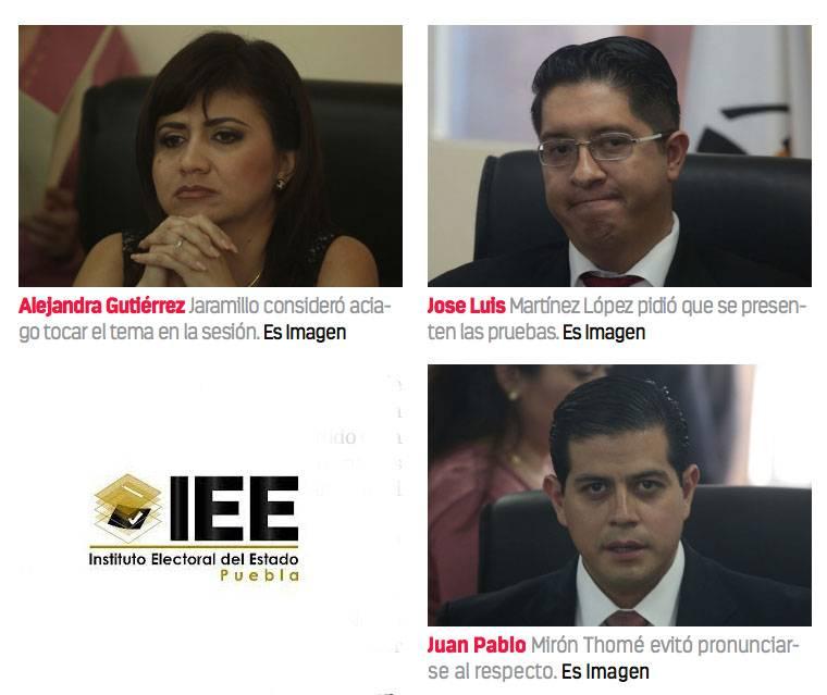 Niegan consejeros del IEE aceptar sobornos de Rivera