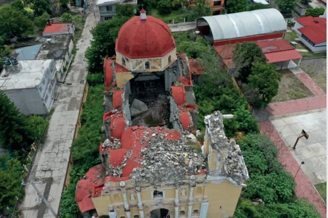A 4 años del sismo de 2017, 50% de avance en inmuebles históricos