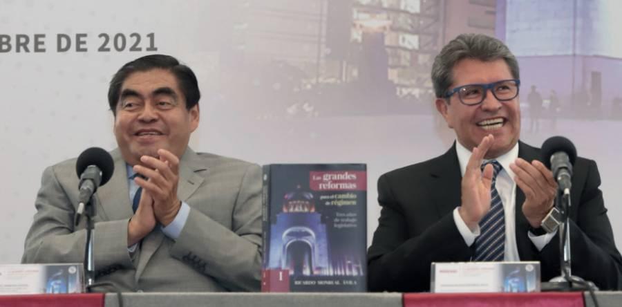 Monreal y Barbosa llaman desde Puebla a ratificar a AMLO como presidente